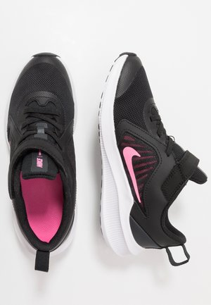 DOWNSHIFTER 10 UNISEX - Neutral running shoes - black/pink glow/anthracite/white