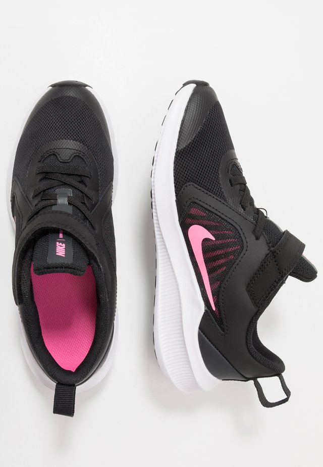 DOWNSHIFTER 10 - Neutrale løbesko - black/pink glow/anthracite/white