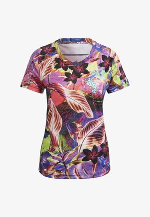 FLORAL TEE W - T-shirts med print - pink
