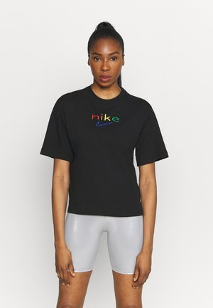 DRY TEE BOXY RAINBOW - Camiseta estampada - black