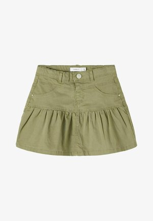 A-line skirt - deep lichen green
