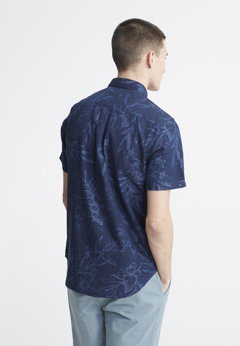 Superdry - MIAMI LOOM BOX FIT SHIRT - Košile - miami tropical indigo