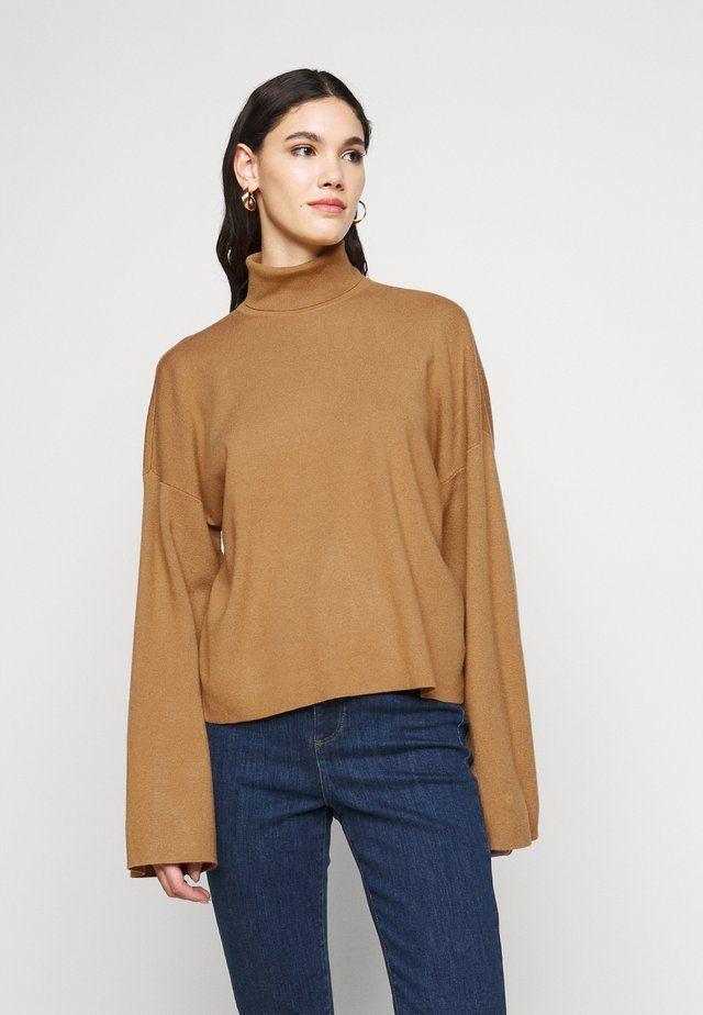 NMSHIP ROLL NECK - Sweter - tigers eye
