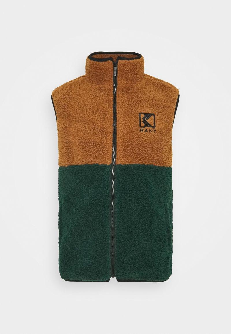 Karl Kani - UNISEX TAPE TEDDY BLOCK  - Vest - darkgreen