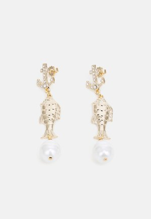 ANCHOR & FISH EARRINGS - Earrings - cream