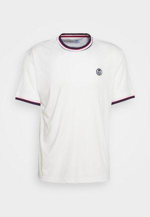 PARIS MAN - Basic T-shirt - blanc/ blue depths