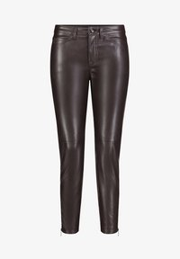 MAC - Leather trousers - brown - 2