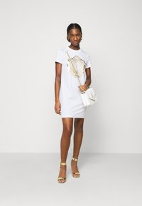 Versace Jeans Couture - DRESS - Jersey dress - optical white/gold - 1