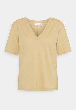 LAST V NECK - Basic T-shirt - beige