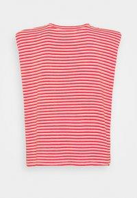 NAF NAF - EPAULETTE RAYE - T-shirt med print - rouge/ecru - 1