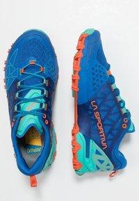 La Sportiva - BUSHIDO II WOMAN - Trail running shoes - marine blue/aqua - 1