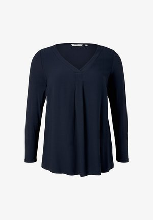 Long sleeved top - sky captain blue
