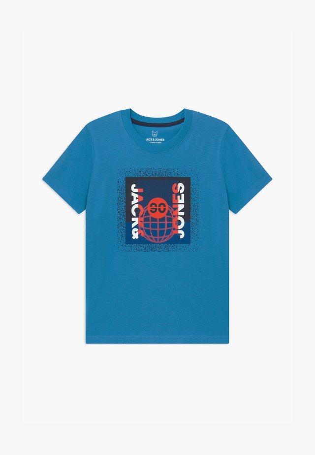 JCOSPLATTER TEE CREW NECK - Print T-shirt - cendre blue