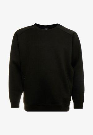 ZIP POCKET CREW PLUS SIZE - Sweatshirt - black