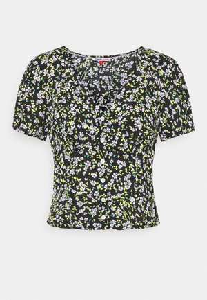 FLORAL  - Blouse - black/green