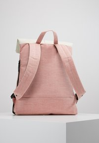 Enter - CITY FOLD TOP BACKPACK - Batoh - melange red/natural - 2