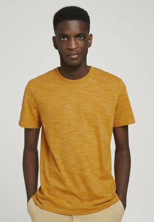 FINE STRIPED  - Print T-shirt - flame brown injected stripe