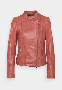 Oakwood - TERRY - Kožená bunda - old pink - 4