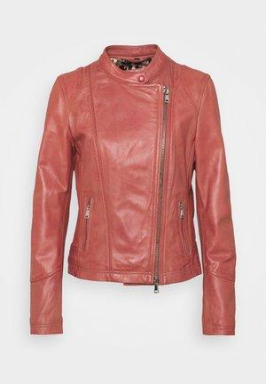 TERRY - Kožená bunda - old pink