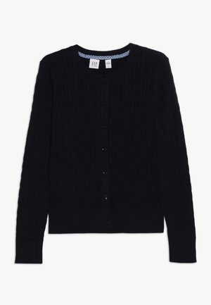 GIRLS UNI CABLE CARDI - Cardigan - true indigo