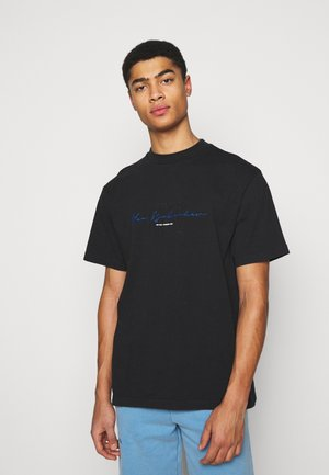 BOXY TEE - Print T-shirt - faded black