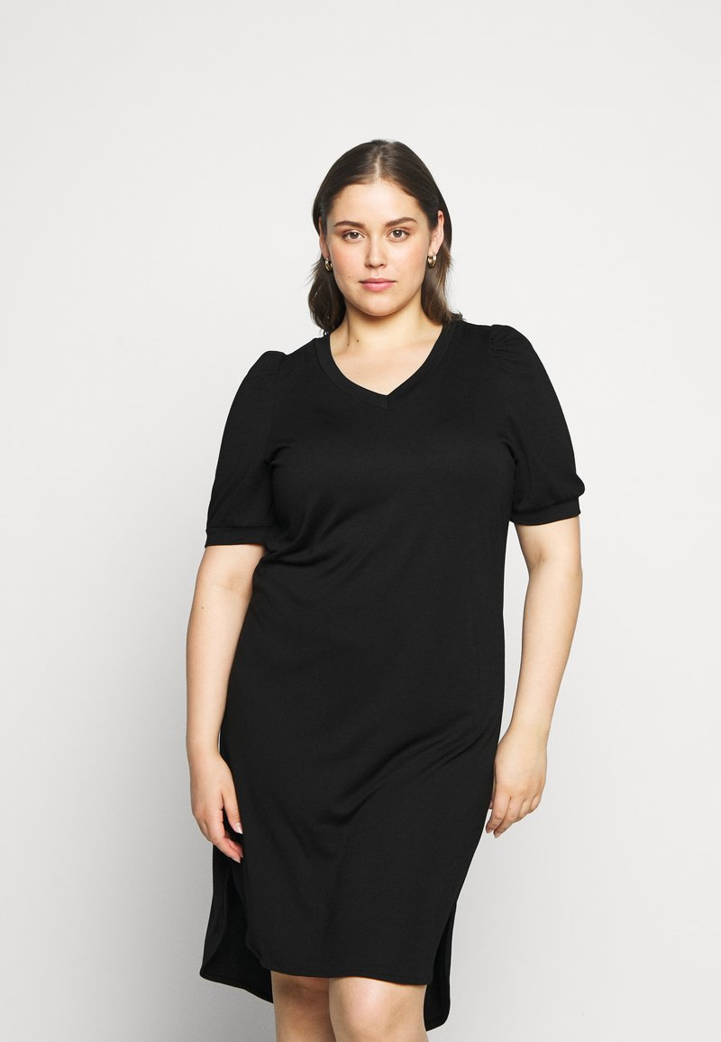 JUNAROSE - by VERO MODA - JRCHASE HIGH LOW DRESS - Shift dress - black