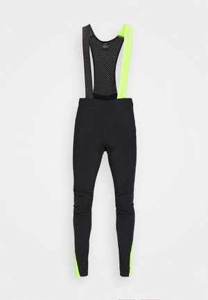 C5 THERMO TRÄGERHOSE - Tights - black/neon yellow