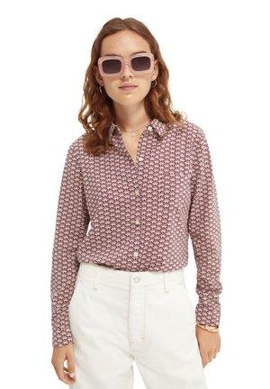Button-down blouse - combo c