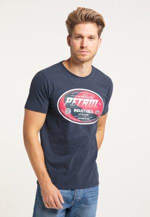T-SHIRT - T-shirt imprimé - deep navy
