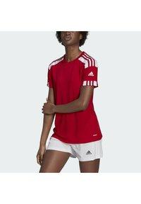 adidas Performance - SQUADRA 21 - T-shirts med print - team power red white - 0
