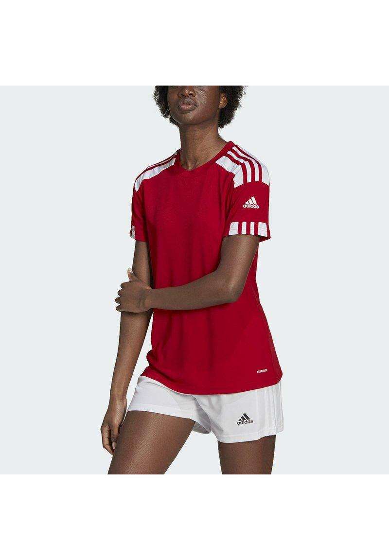 adidas Performance - SQUADRA 21 - T-shirts med print - team power red white