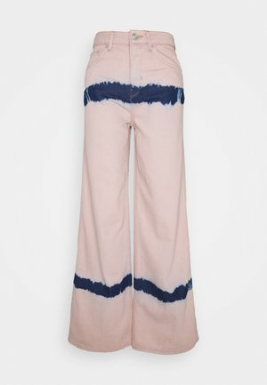 PUDDLE  - Relaxed fit -farkut - pink tie dye