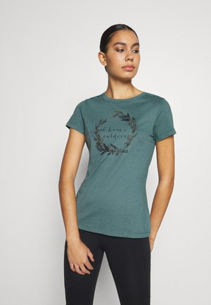 AT HOME - Print T-shirt - north atlantic