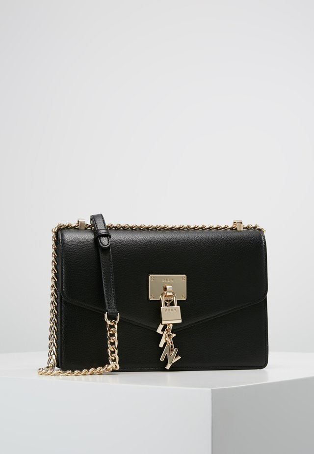 ELISSA SHOULDER - Sac bandoulière - black/gold