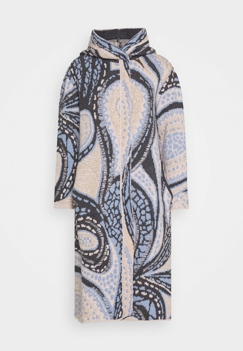 Ivko - COAT GEOMETRIC PATTERN - Classic coat - dark grey