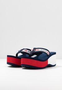 Tommy Jeans - CHUNKY TAPE BEACH SANDAL - T-bar sandals - twilight navy - 4