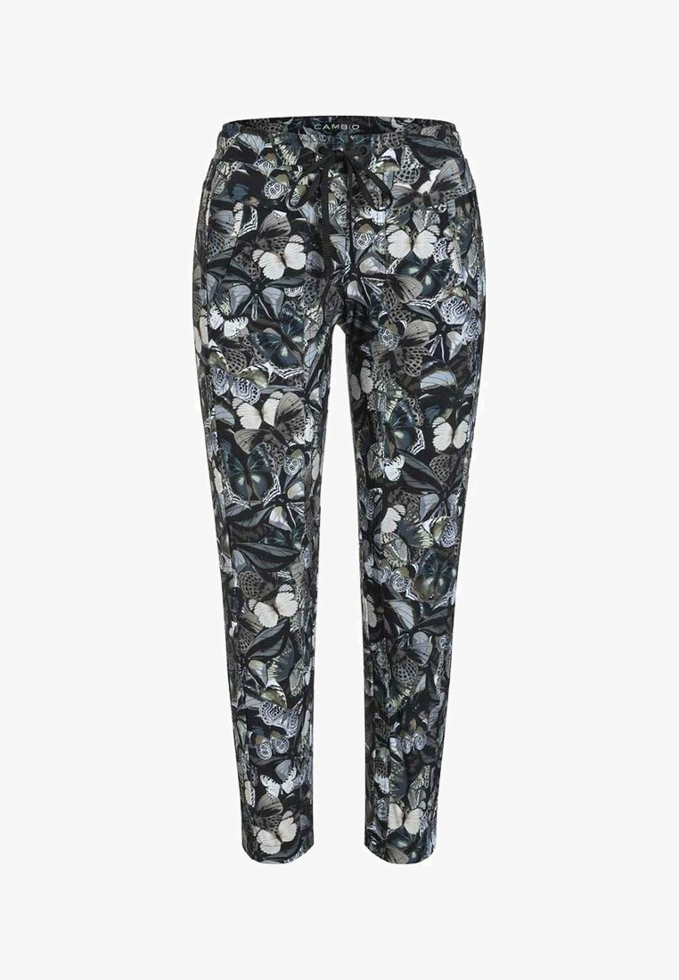 Cambio - JORDEN SEAM - Trousers - dark shaded butterfly camouflage