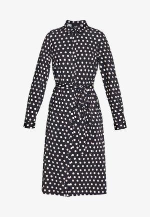 SPOT DRESS - Jersey dress - black/white
