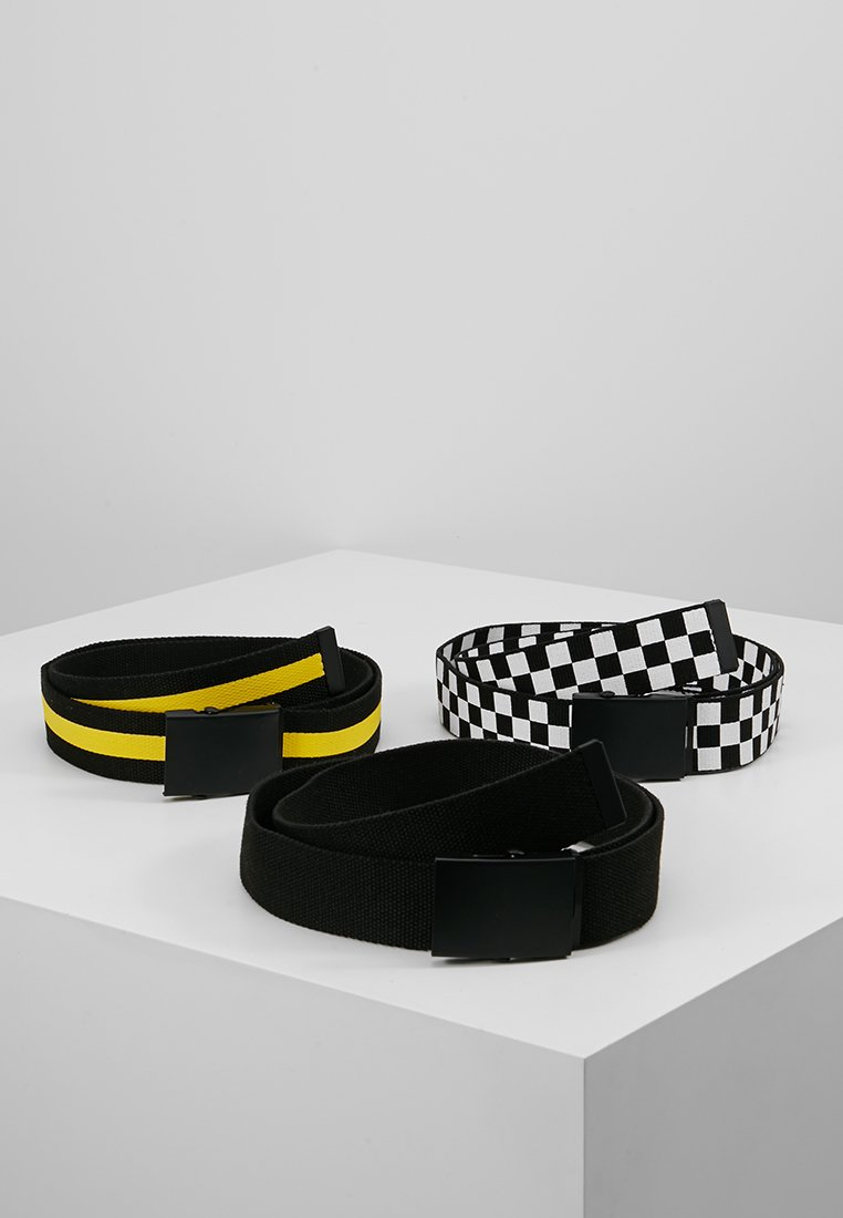 Urban Classics - 3 PACK - Pásek - black/white/yellow