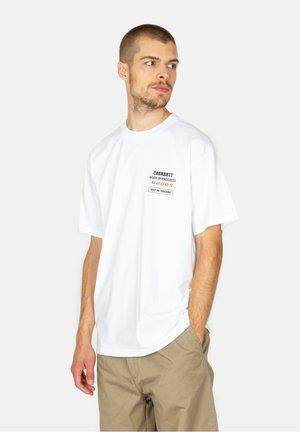 GOODS - Print T-shirt - white