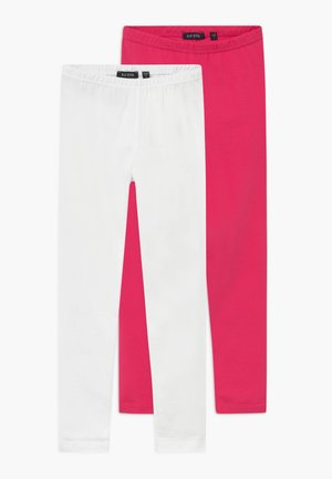 2 PACK - Leggings - pink/white