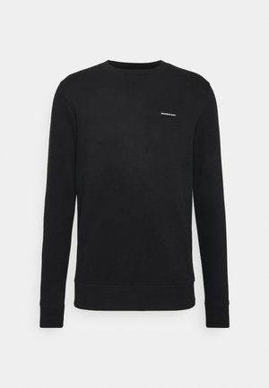 FITTED ESSENTIAL WITH RUBBER BADGE - Sweater - black