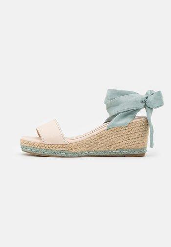 AUSTEN - Platform sandals - menta