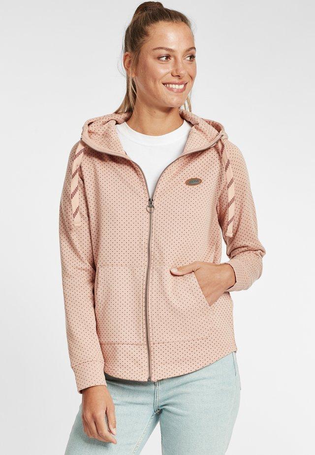 AMALIA - veste en sweat zippée - mahogany rose melange