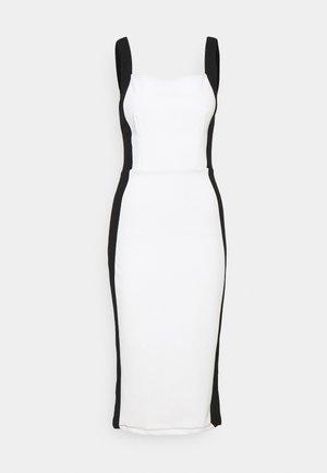 IVY STRAP BODYCON DRESS - Pouzdrové šaty - white/black