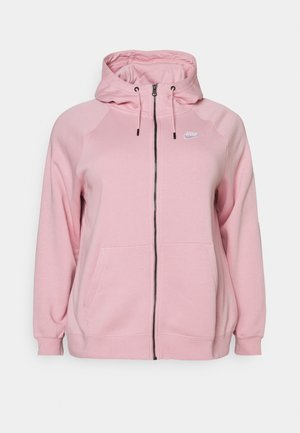 HOODY PLUS - Sweatjacke - pink glaze/white