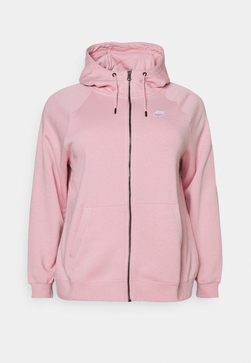 Nike Sportswear - HOODY PLUS - Zip-up hoodie - pink glaze/white
