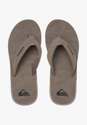 CARVER - T-bar sandals - grey/grey/black