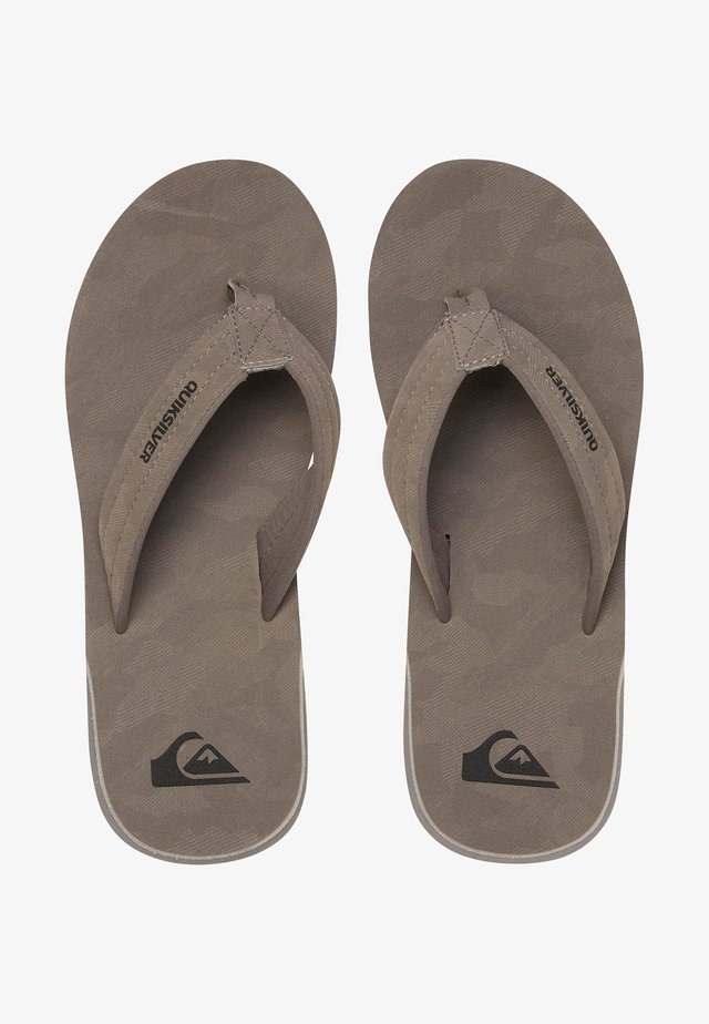 CARVER - T-bar sandals - grey/grey/black