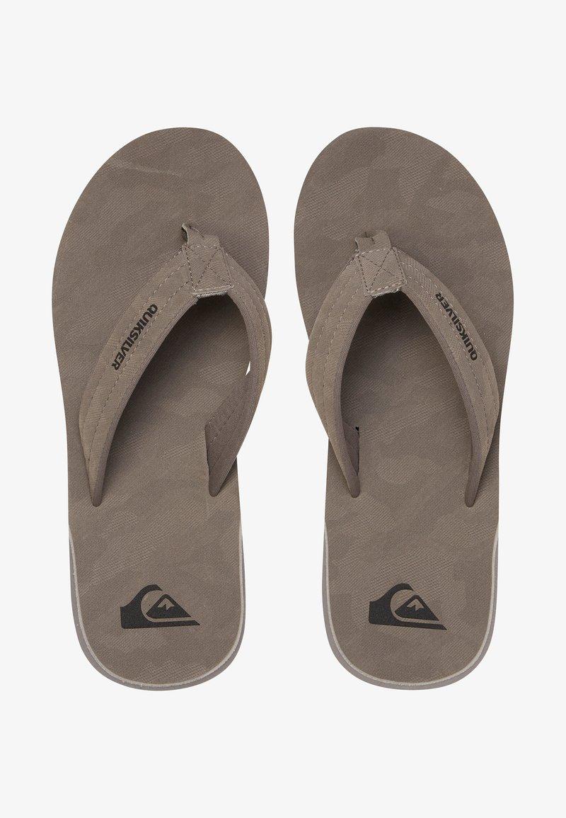 Quiksilver - CARVER - T-bar sandals - grey/grey/black